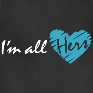I'm all hers (couple - boy) Hoodies - Adjustable Apron