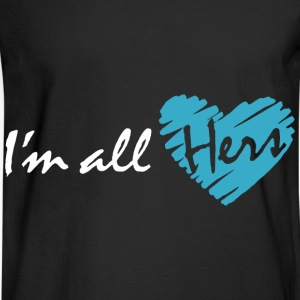 I'm all hers (couple - boy) Hoodies - Men's Long Sleeve T-Shirt