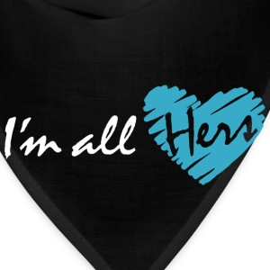 I'm all hers (couple - boy) Hoodies - Bandana