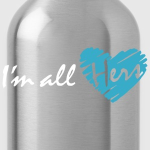 I'm all hers (couple - boy) Hoodies - Water Bottle