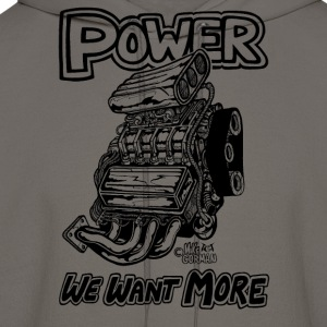 Power We want More with Blown engine.png T-Shirts - Men's Hoodie