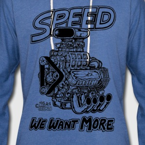 Speed We Want More - Unisex Lightweight Terry Hoodie