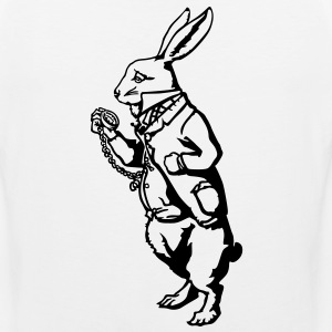 White rabbit Wonderland Hoodies - Men's Premium Tank