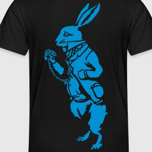 White rabbit wonderland (negative) Kids' Shirts - Toddler Premium T-Shirt