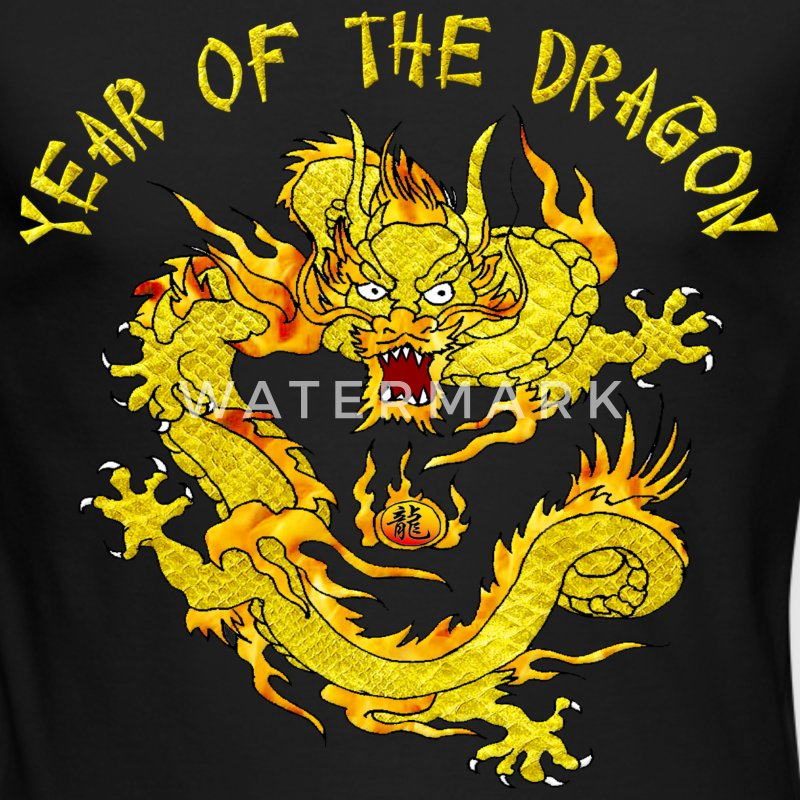 Year Of The Dragon Long Sleeve Shirts - Men's Long Sleeve T-Shirt by Next Level