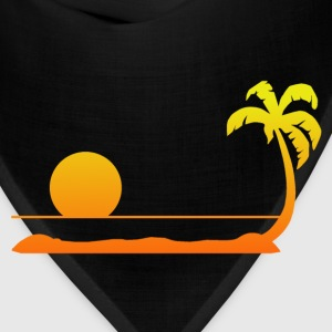 Tropical Sunset T-Shirts - Bandana