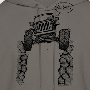 Jeep over Ravine - Men's Hoodie