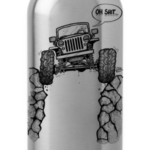 Jeep over Ravine - Water Bottle