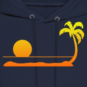 Tropical Sunset Long Sleeve Shirts - Men's Hoodie