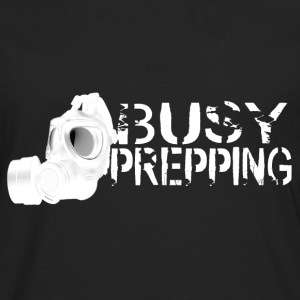 Busy Prepping Gas Mask - Men's Premium Long Sleeve T-Shirt
