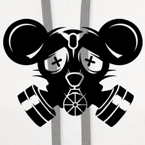 A gas mask with big mouse ears Caps - Contrast Hoodie