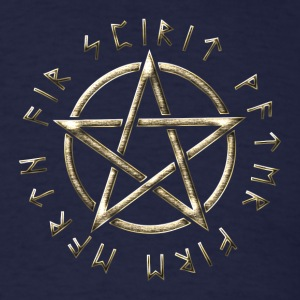 Runic Pentacle, pentagram, protection, runes Long Sleeve Shirts - Men's T-Shirt