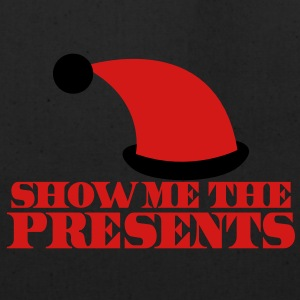 SHOW ME THE PRESENTS! Christmas santa hat funny Long Sleeve Shirts - Eco-Friendly Cotton Tote