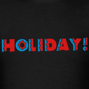HOLIDAY in celebration type super cute! Long Sleeve Shirts - Men's T-Shirt