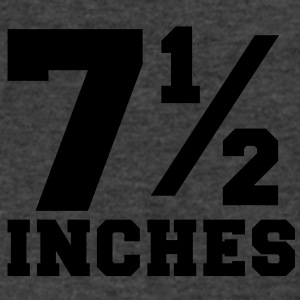 SIZE MATTERS 7 and one half inches 1/2 Long Sleeve Shirts - Men's V-Neck T-Shirt by Canvas