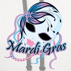 New Orleans Mardi Gras Mask Accessories - Contrast Hoodie