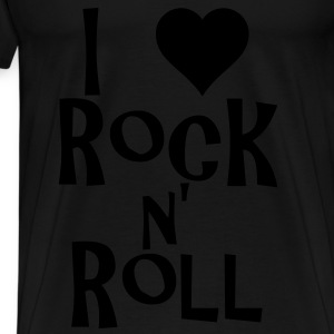 i love rock n' roll Bags  - Men's Premium T-Shirt