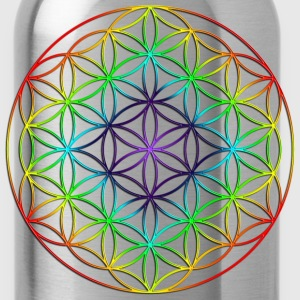 Flower of Life Rainbow Chakras - Water Bottle