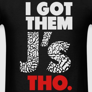 I Got Them J's Tho Crew (Elephant Print) - Men's T-Shirt