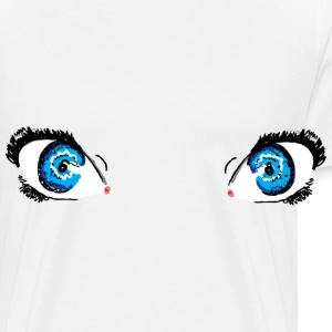 Glacier Blue Eyes Buttons - Men's Premium T-Shirt