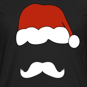 santa claus mustache - Men's Premium Long Sleeve T-Shirt