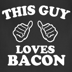 this guy loves bacon - Adjustable Apron