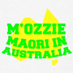 M'OZZIE Maori in Australia Aussie map design Phone & Tablet Covers - Men's T-Shirt