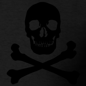 Pirate skull Zip Hoodies/Jackets - Men's T-Shirt