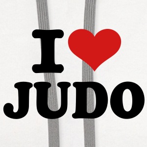 I love Judo T-Shirts - Contrast Hoodie