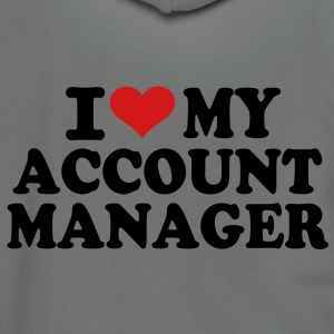 I love My Account Manager T-Shirts - Unisex Fleece Zip Hoodie by American Apparel