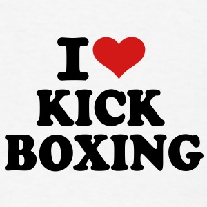 I love Kickboxing Accessories - Men's T-Shirt