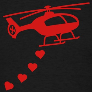 Army Helicopter Bombing Love Hoodies - Men's T-Shirt