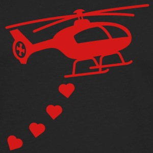 Army Helicopter Bombing Love Hoodies - Men's Premium Long Sleeve T-Shirt
