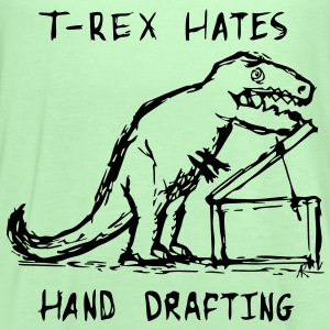 Architecture T-Rex Hates Hand Drafting T-Shirts - Women's Flowy Tank Top by Bella