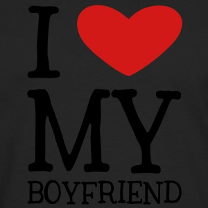 I Heart My Boyfriend Tanks - Men's Premium Long Sleeve T-Shirt