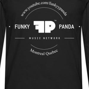 Funky Panda Front - Middle Design T-Shirts - Men's Premium Long Sleeve T-Shirt