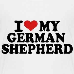 I love my German Shepherd Kids' Shirts - Toddler Premium T-Shirt