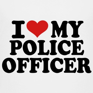I love my Police Officer Kids' Shirts - Toddler Premium T-Shirt