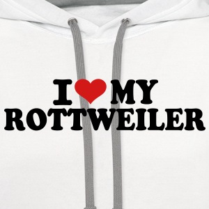 I love my Rottweiler T-Shirts - Contrast Hoodie