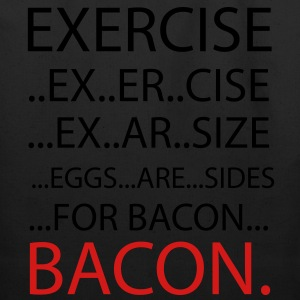Exercise or Bacon T-Shirts - Eco-Friendly Cotton Tote