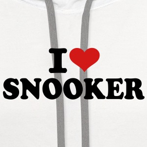 I love Snooker Kids' Shirts - Contrast Hoodie