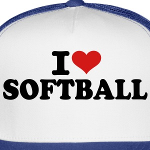 I love Softball Women's T-Shirts - Trucker Cap