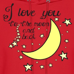 I love you to the moon and back kids t-shirt - Men's Hoodie