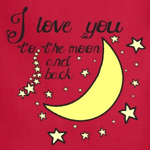 I love you to the moon and back kids t-shirt - Adjustable Apron