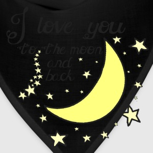 I love you to the moon and back kids t-shirt - Bandana