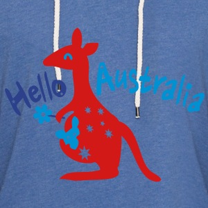 Hello Australia Baby Long Sleeve One Piece - Unisex Lightweight Terry Hoodie