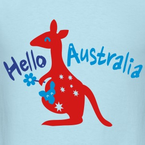 Hello Australia Baby Long Sleeve One Piece - Men's T-Shirt