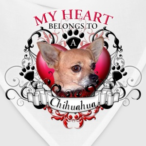 My Heart Belongs to a Chihuahua Women's T-Shirts - Bandana