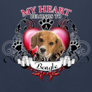 My Heart Belongs to a Beagle Kids' Shirts - Men's Premium Tank