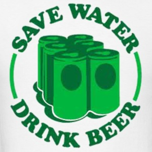 Save water. Drink beer. Hoodies - Men's T-Shirt
